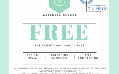 Wellness Check-ins from Aulneau Renewal Centre