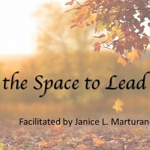 Finding the space to lead graphic